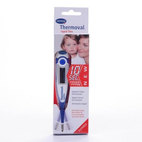 TERMOMETRO DIGITAL THERMOVAL RAPID MEDICION RAPIDA PUNTA FLEXIBLE
