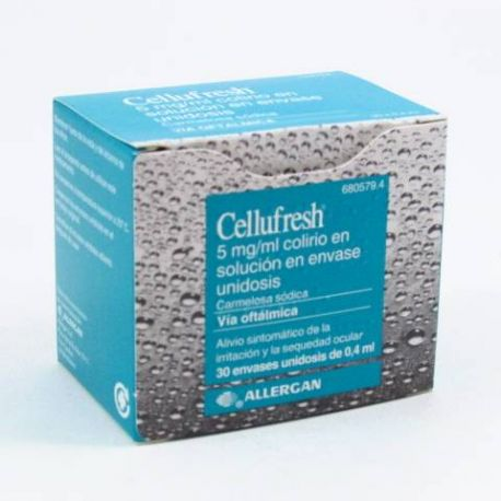CELLUFRESH 5 MG/ML COLIRIO 30 MONODOSIS SOLUCION 0.4 ML
