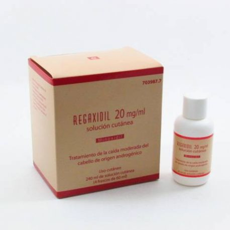 REGAXIDIL 20 MG/ML SOLUCION CUTANEA 4 FRASCOS 60 ML