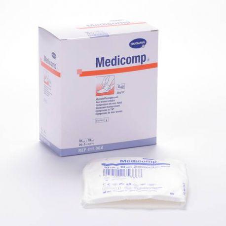 MEDICOMP COMPRESAS NON WOVEN APOSITO ESTERIL 10 X 10 CM 25 SOBRES 2 U