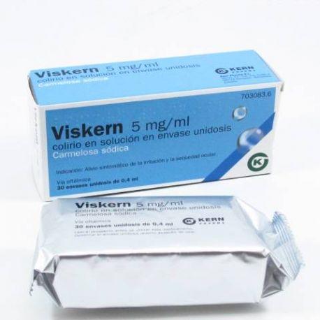 VISKERN 5 MG/ML COLIRIO 30 MONODOSIS SOLUCION 0.4 ML