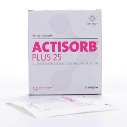 ACTISORB PLUS 25 APOSITO ESTERIL CARBON IMPREGNADO PLATA 10,5 X 10,5 CM 3 U