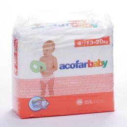 ACOFARBABY PAÑAL INFANTIL T- 4 12-18 KG 24 U