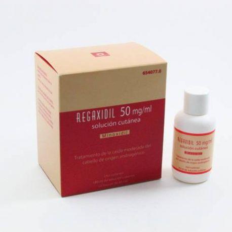 REGAXIDIL 50 MG/ML SOLUCION CUTANEA 3 FRASCOS 60 ML