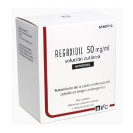 REGAXIDIL 50 MG/ML SOLUCION CUTANEA 3 FRASCOS 60 ML