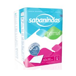 PROTECTOR DE CAMA SABANINDAS ABSORBENTE NORMAL 60 X 90 12 U