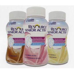 RESOURCE SENIOR ACTIV 12 VAINILLA/ 8 FRESA SUAVE/ 4 CARAMELO 200 ML 24 BOTELLAS MULTISABOR