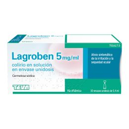LAGROBEN 5 MG/ML COLIRIO 30 MONODOSIS SOLUCION 0.4 ML