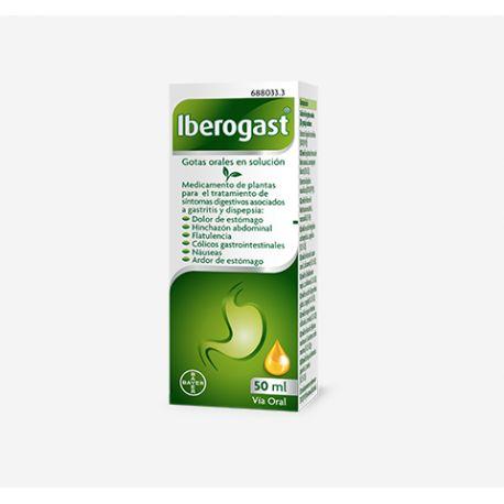 IBEROGAST GOTAS ORALES SOLUCION 50 ML