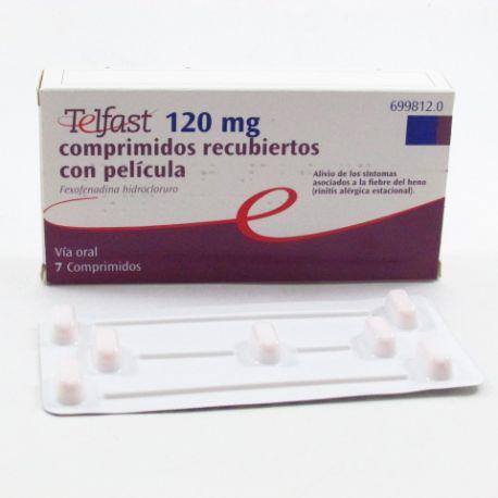 TELFAST 120 MG 7 COMPRIMIDOS RECUBIERTOS