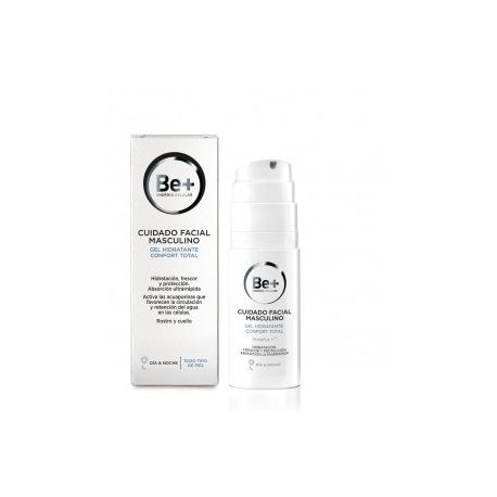 BE+ FACIAL GEL HIDRATANTE CONFORT TOTAL CUIDADO MASCULINO 50 ML