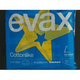 COMPRESAS TOCOLOGICAS EVAX COTTONLIKE SUPERPLUS 10 COMPRESAS