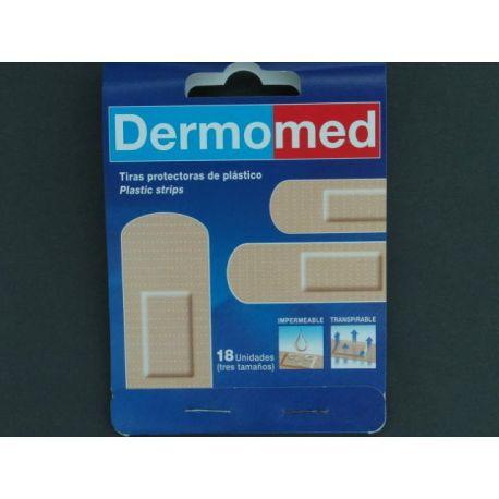 DERMOMED PLAST PVC APOSITO ADHESIVO 3 TAMAÑOS 18 U