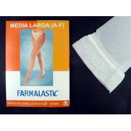 MEDIA LARGA (A-F) COMP NORMAL FARMALASTIC BLONDA BLANCA T- E GDE