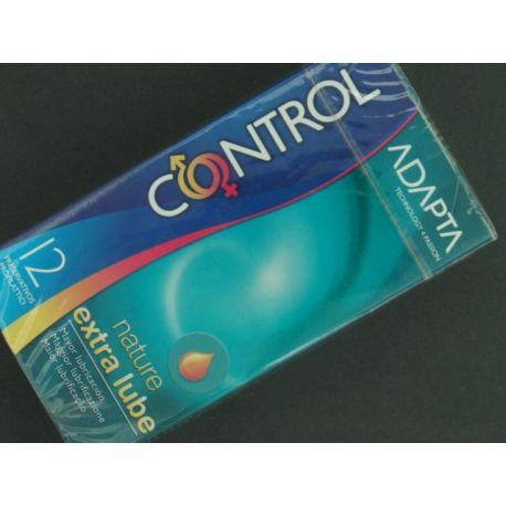 CONTROL ADAPTA NATURE EXTRA LUBE PRESERVATIVOS 12 U