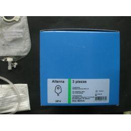 BOLSAS UROST SIST DOBLE PLAC C-ESP ALTERNA CONFORT 3P MULTICANAL ADH LD MAXI TRANSP 40 MM 30+7 U