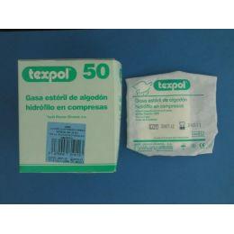 GASA ESTERIL ALGODON HIDROFILO COMPRESAS TEXPOL SOBRE 5 U  50 U