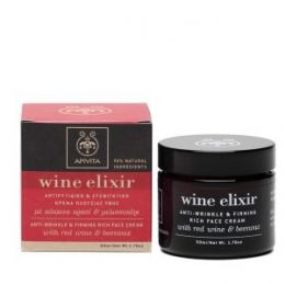 Apivita Wine Elixir Crema antiarrugas textura rica
