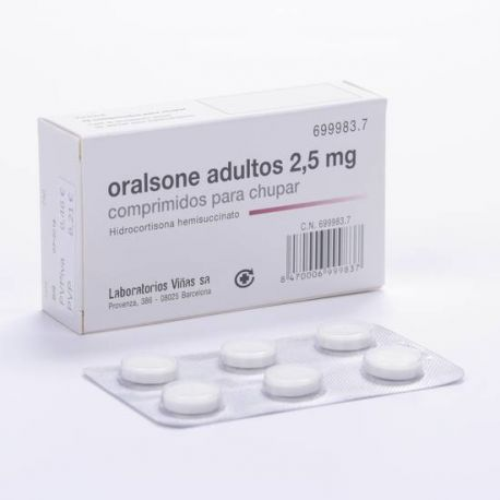 ORALSONE ADULTOS 2.5 MG 12 COMPRIMIDOS PARA CHUPAR