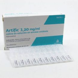 ARTIFIC 3.2 MG/ML COLIRIO 30 MONODOSIS SOLUCION 0.5 ML