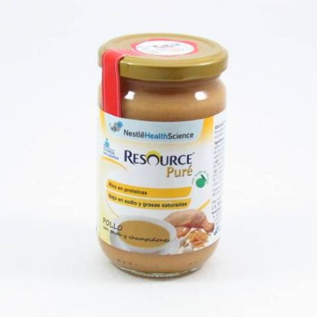 RESOURCE PURE 300 G POLLO PASTA Y CHAMPIÑONES