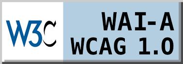Icono de conformidad con el Nivel A, de las Directrices de Accesibilidad para el Contenido Web 1.0 del W3C-WAI